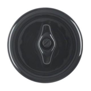Enjoliveur + manette de commande rotative - Porcelaine - Nuit [- 1930 Rosenthal - Palazzo - Hager - WMV785N - 4011334516095]