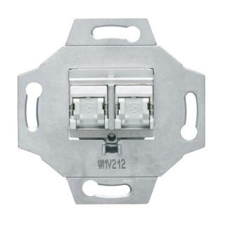 RJ45 double Catégorie 5e FTP [- 1930 - Palazzo - Hager - WMV212 - 3250617150071]