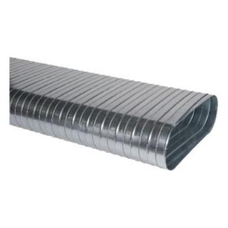 Conduit plat spiralé rigide - Longueur 3 m - CSRO [- Réseaux galva rigides - Oblongs - ALDES]
