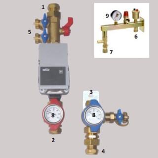Circulateur haute efficacité avec kit hydraulique [- Composants Puits canadien hydraulique - Brink]