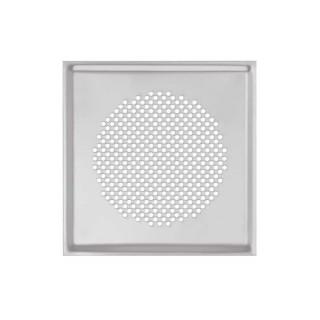 Grille carrée métallique Venezia - Ø 125 mm - Blanche ou Inox [- Bouche acier - Réseau ventilation - Zehnder]