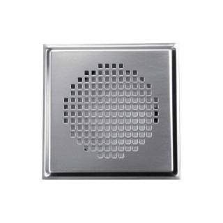 Grille carrée métallique Torino - Ø 125 mm - Blanche ou Inox [- Bouche acier - Réseau ventilation - Zehnder]