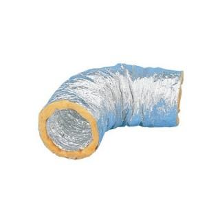 Gaine calorifugée phonique 25 ou 50 mm - GSI - 10 mètres - T max + 250°C - Ø 80 à 500 mm [- Conduits Ventilation - Unelvent]