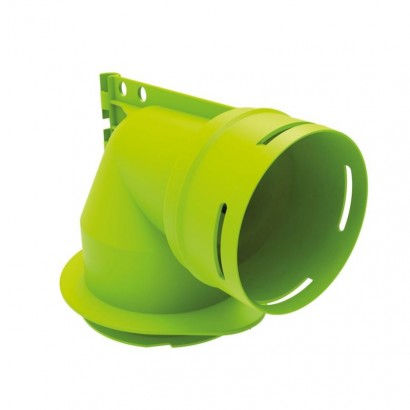 Coude mixte vertical pour bouche 80 - XCMV 80/90 [- Conduits et accessoires VMC en PEHD - Réseau Clip & Go - Atlantic]