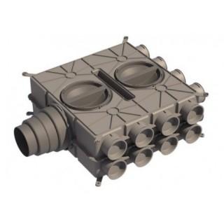 Caisson de distribution 16 piquages - CDP 16X75 [- Conduits et accessoires VMC en PE - Réseau Clip & Go - Atlantic]