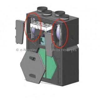 Kit 2 moteurs + 1 carte (ou 1 clé USB) pour VMC DOMEO FL (Filaire) et Equation ATACAMA radio [ pièce détachée VMC - Unelvent]