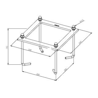 Kit d'ancrage béton pour bornes ASKER [- Eclairage extérieur - Norlys]