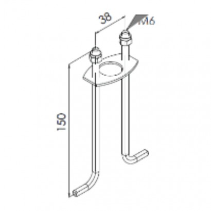 Kit d'ancrage béton pour bornes ARENDAL [- Eclairage extérieur - Norlys]