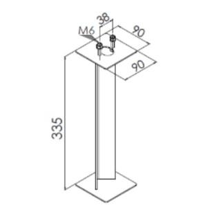 Kit d'ancrage sol meuble pour bornes ARENDAL [- Eclairage extérieur - Norlys]