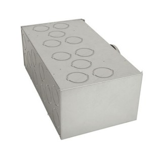 Caisson de répartition métallique 20 piquages - Optiflex [- Conduits Polyéthylène et accessoires VMC - Aldès]