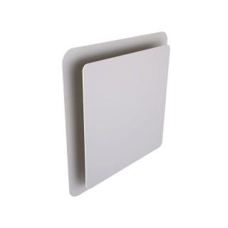Bouche design à effet coanda carrée Ø 125 mm - Blanche - montage plafond [- Brink]