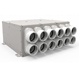 Répartiteur 12 piquages Ø 75 mm avec silencieux [- UNFDD 75 - Réseau PEHD Uniflexplus - Ventilair]