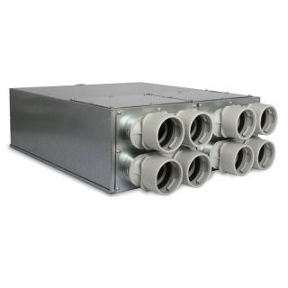 Répartiteur 8 piquages Ø 75 mm avec silencieux [- UNFDS 75 - Réseau PEHD Uniflexplus - Ventilair]