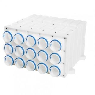 Caisson de distribution Gecoflex - DN180 - 15x Ø 75 mm [ - Réseau Gecoflex - GECO]