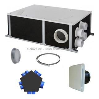 KIT ORKA-BP HR [- Kit VMC Double flux haut rendement avec By-Pass - Unelvent]