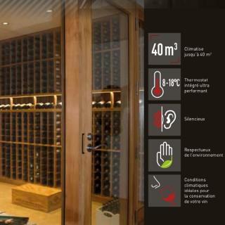 WINE SP40-DU PRO [- Climatiseur de caves à vin - Jusqu'à 40 m3 - Winemaster Fondis]