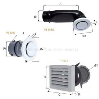 Bouches réglables (insufflation et extraction) [- accessoire VMC double-flux - Atlantic]