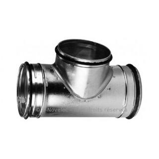 TE équerre 90° galva avec joint [- accessoires galvanisés VMC - Unelvent / Atlantic]