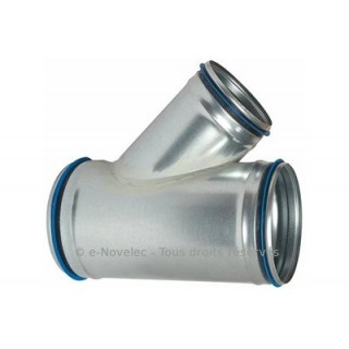 Té oblique 45° galva avec joint [- accessoires galvanisés VMC - Atlantic / Unelvent]