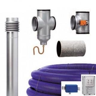Kit puits canadien avec by-pass + régulation (LEWT-Système) [- Géoventilation / Puits canadien - Helios]