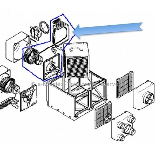 """Ensemble """"Moteur + turbine"""" de rechange pour VMC AKOR ST [- accessoire VMC double flux - Unelvent]"""