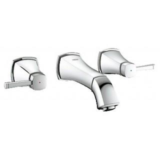"""GRANDERA - Mélangeur 3 trous 1/2"""" Lavabo - Saillie 177 mm [- Robinetterie salle de bains - GROHE]"""