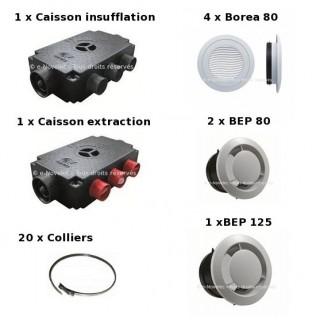 Kit Accessoires Prometeo HR 4 piquages [- VMC Double flux - Vortice]