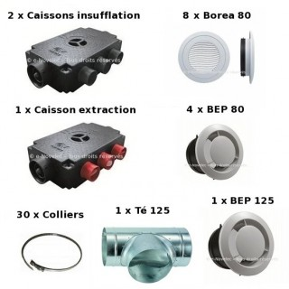 Kit Accessoires Prometeo HR 8 piquages [- VMC Double flux - Vortice]