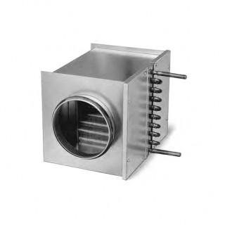 Batterie eau chaude pour conduits circulaires - WHR-R (Après VMC) [- Accessoire VMC Double flux - Helios]
