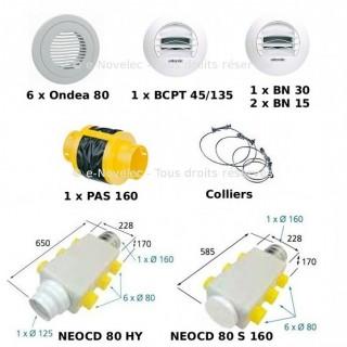 Kit accessoires DUOCOSY HR pour réseau Pieuvre [- VMC Double Flux - Atlantic]