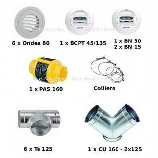Kit accessoires DUOCOSY HR pour réseau Linéaire [- VMC Double Flux - Atlantic]