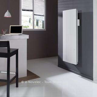 ONIRIS Connecté Blanc - Vertical - Pilotage Intelligent [- Radiateur Inertie Aluminium - Atlantic]