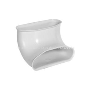 Coude 90° ovale vertical - Optiflex [- Conduits Polyéthylène et accessoires VMC - Aldès]