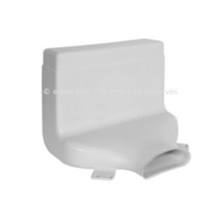 Manchette rectangulaire coudée - 1 piquage ovale - Optiflex [- Conduits Polyéthylène et accessoires VMC - Aldès]