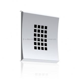 Bouche Design métallique d'extraction concave Ø 100, 125 et 160 mm - PINOCc [- Bouches VMC réglables - CDM]
