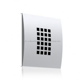 Bouche Design métallique d'extraction convexe Ø 100, 125 ou 160 mm PINODc [- Bouches VMC réglables - CDM]