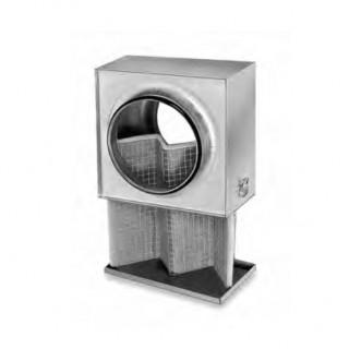 Caisson filtre G4 pour conduits circulaires - LFBR [- Filtration conduits galva - Helios]