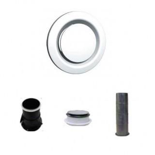 Bouche extraction / insufflation réglable - BER - Ø 80, 100, 125, 160 et 200 mm [- bouches VMC - Unelvent]