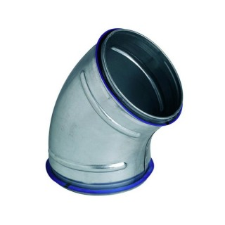 Coude galva 45° à joints - Ø 80 à 630 mm [- accessoires galvanisés VMC - Unelvent / Atlantic / Aldès]