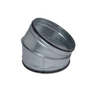 Coude galva 30° à joints - Ø 125 à 630 mm [- accessoires galvanisés VMC - Unelvent / Atlantic / Aldès]