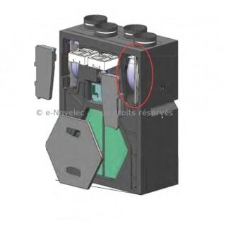 Motoventilateur (moteur + ventilateur) pour VMC DOMEO RD (Radio) et Equation ATACAMA Radio [ pièce détachée VMC - Unelvent]