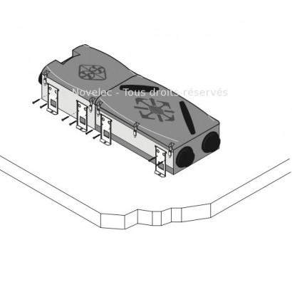 Kit fixation sol ou mur pour Echangeur / Moteur Dee Fly Modulo [- Fixation VMC double flux - ALDES]