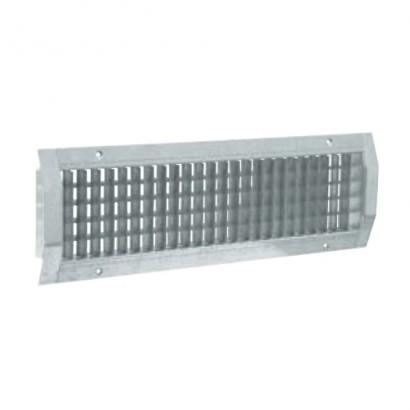 Grille d'extraction d'air pour conduits galva - GD 102 F1 [- accessoires galvanisés VMC - Aldès]
