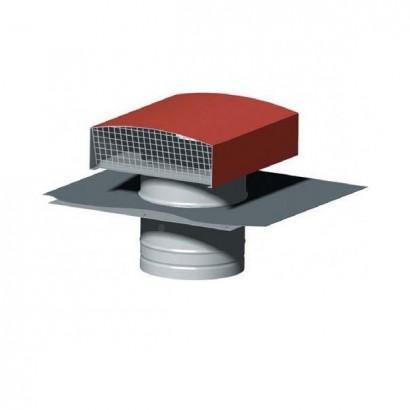 Chapeau de toiture métallique CT - Ø 125 à 630 mm [- Sortie toiture VMC - Unelvent]