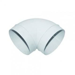 Coude circulaire à 90° - Ø 100 mm - CDC [- conduits PVC de Ventilation - Unelvent]