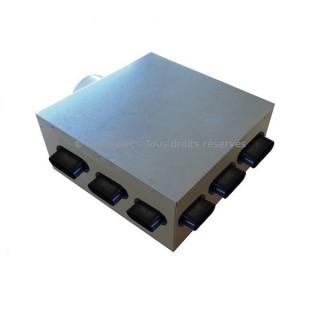 Plénum isolé 9 piquages - PLI 50/9P [- réseau VMC PEHD - Serie PLUGGIT - Unelvent]