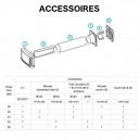 Accessoires pour entrées d'air murales - EHT/EFT [- Aldes]
