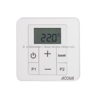 IRS - Commande programmable Infrarouge pour sèche-serviettes électrique (avec cadre blanc) [- Programmation - Acova]