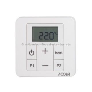 IRS - Commande programmable Infrarouge pour sèche-serviettes chauffage central (avec cadre blanc) [- Programmation - Acova]