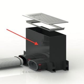 Plénum sol/mur rectangulaire pour conduits plats 51 mm [(sans grille) - FRS-WBK 2-51 - Réseau FlexPipe - Helios]